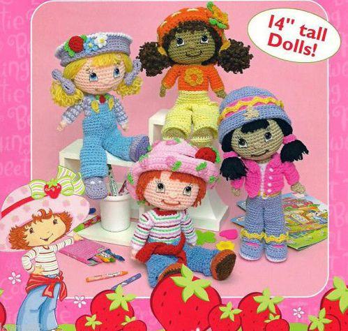 Crochet 4 Dolls strawberry shortckae PDF PATTERNS