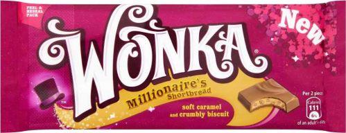 Wonka Millionaire's Shortbread Chocolate Bar