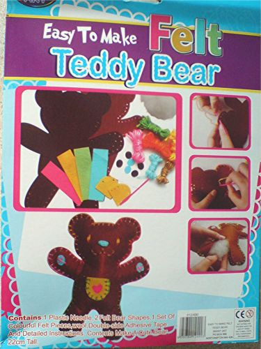 Easy To Make Felt Teddy Bear Kids Craft Kit
