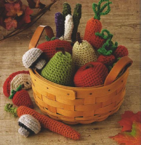 crochet egg food fruit vegetables PDF PATTERNS