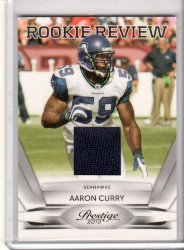 2010 Panini Prestige Aaron Curry Rookie Review Jersey Seahawks Raiders Wake Fore