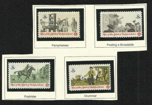US 1476 - 1479, 1973 Spirit of Independence - Set of 4 US STAMPS