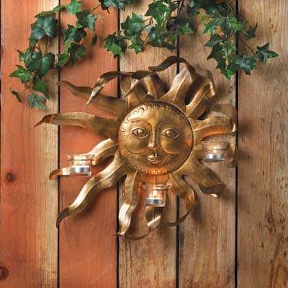 Smiling Sun Candle Sconce