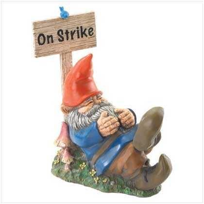 On Strike Sleeping Gnome