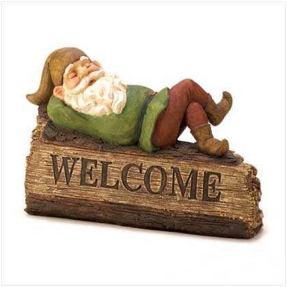 Sleepy Gnome Welcome Sign