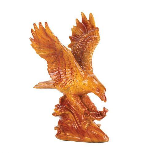Faux Wooden Eagle Statue