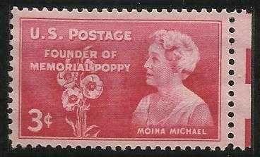 US 3 Cent 1948 Moina Michael Stamp Scott # 977 - MNH