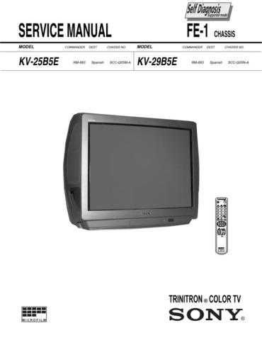 SONY FVP-1E Technical by download #104937