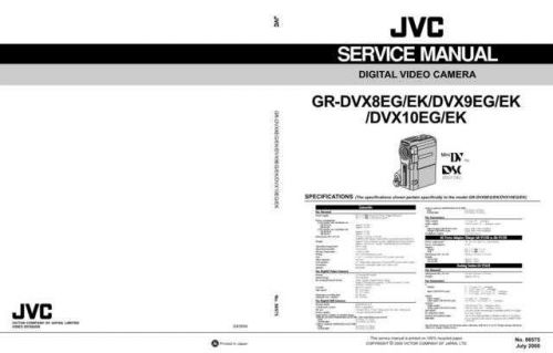 JVC GR-DVX80-DVX90-1 Service Manual by download Mauritron #273263
