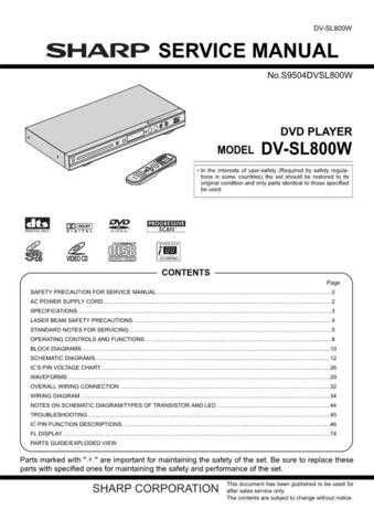 Sharp DV-SL8W part 2 Technical Information by download Mauritron #232834