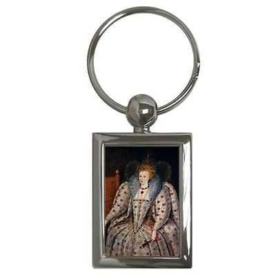 Queen Elizabeth I Art Key Chain Keychain