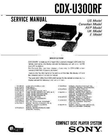 Sony CDX-T68X. Service Manual by download Mauritron #238645