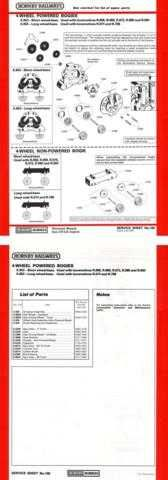Hornby No.106 4-Wheeled Powered Bogies Service Sheets by download Mauritron #20