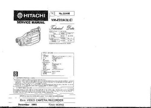 Hitachi VME55A1 Service Manual by download Mauritron #265024