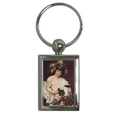 Bacchus God Of Wine Caravaggio Art Key Chain Keychain