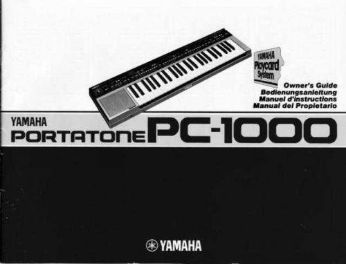 Yamaha PC1002E Operating Guide by download Mauritron #249110