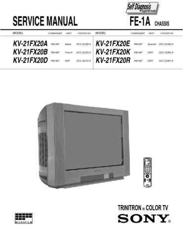 SONY FE-1-7 Service Schematics Service Information by download #113586