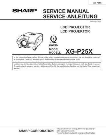 Sharp XGP25X Service Manual by download Mauritron #207676