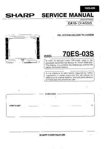 Sharp 70ES03S (1) Service Manual by download Mauritron #207918
