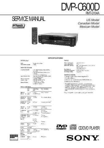 Sony DVP335E Service Manual by download Mauritron #240475