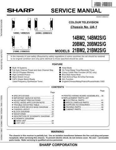 Sharp 14BM2-20BM2-21BM2 (1) Service Manual by download Mauritron #207339