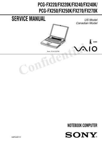 Sony PCG-F340F350F360 Service Manual. by download Mauritron #243254