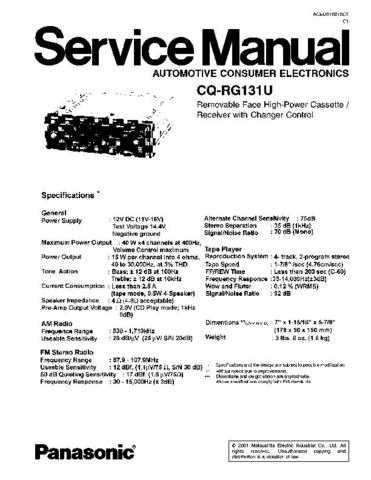 Panasonic CT-20SL15 Service Manual with Schematics by download Mauritron #266507