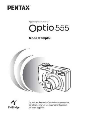 PENTAX OPTIO555 FRE OPM CAMERA INSTRUCTIONS by download #119112