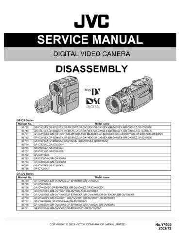 JVC GR-DX95 DISASS SERVICE MANUAL by download Mauritron #220103