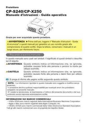 Hitachi CP-S220W DE Manual by download Mauritron #224647