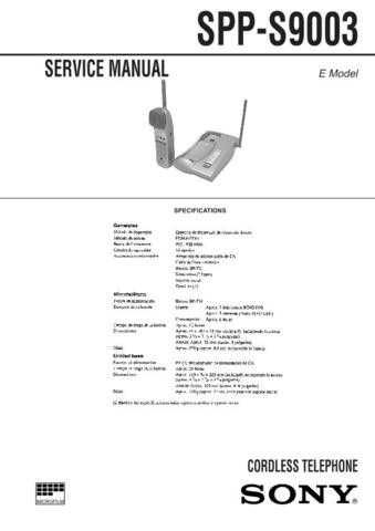 SONY SPP-SS966 Technical Info by download #105235