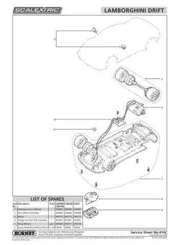 Scalextrix No.414C Lamborghini Drift Service Sheets by download Mauritron #2065