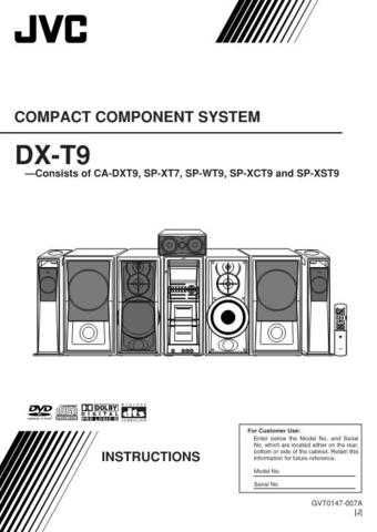 JVC DX-T9-2 Service Manual by download Mauritron #273150