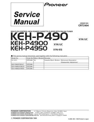 Pioneer C2404 Manual by download Mauritron #227262