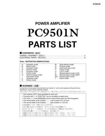 Yamaha PC6501N 4801N 3301N 2001N INS C Manual by download Mauritron #258537
