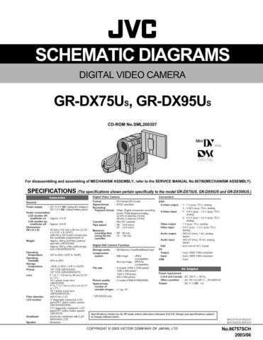 JVC GR-DX75-DX95 sch Service Manual Schematic Circuit. by download Mauritron #270758