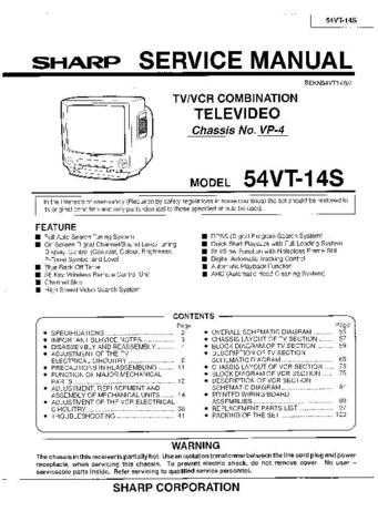 Sharp 54VT14S (1) Service Manual by download Mauritron #207858
