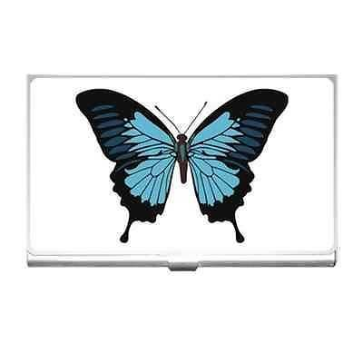 Blue Butterfly Business Credit Card Holder