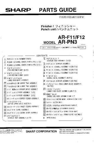 Sharp ARF13-PN1 (1) Service Manual by download Mauritron #208264