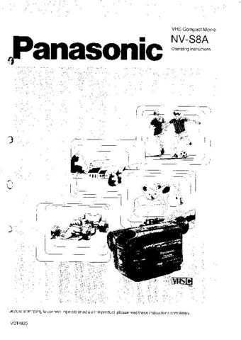 Panasonic NVS8 Operating Instruction Book by download Mauritron #236283