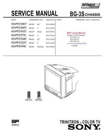 SONY KVPF21DK7 KVPF21M70 KVPF21N70 KVPF21P70 KVPF21Q40 KVPF2 Technical Info by