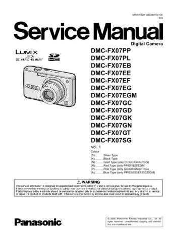 Panasonic DMC-FX2EG Service Manual with Schematics by download Mauritron #266662