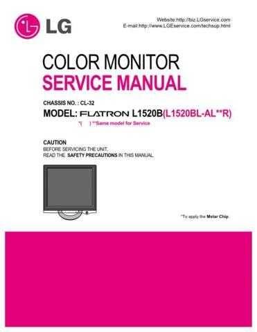 3828TSL097A(L1520BL E) Technical Information by download #116556