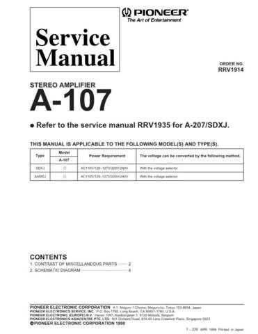 PIONEER R1914 Service I by download #106276