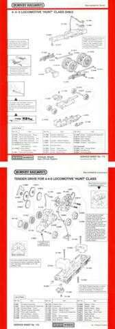 Hornby No.172 4-4-0 Hunt Class D49-2 Loco Service Sheets by download Mauritron