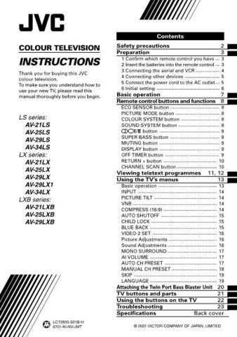JVC AV-21D83-VTA Service Manual Schematic Circuit. by download Mauritron #269545