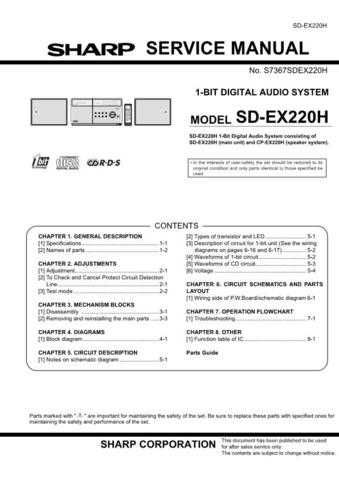 JVC SDEX220H SM GB(1) SERVICE MANUAL by download Mauritron #220602
