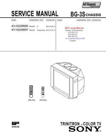 SONY KVXS29M80 KVXS29M97 CHASSIS BG3S Technical Info by download #104805