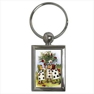 Alice In Wonderland Key Chain Keychain Painting The Roses Red Art