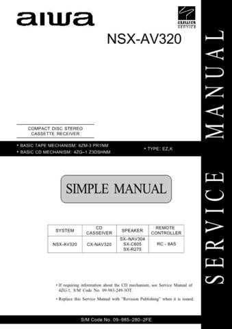 AIWA 09-985-280-2FE Service Informat by download #107427